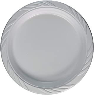 Blue Sky 241 100 Count Disposable Plastic Plates, 9-Inch, White