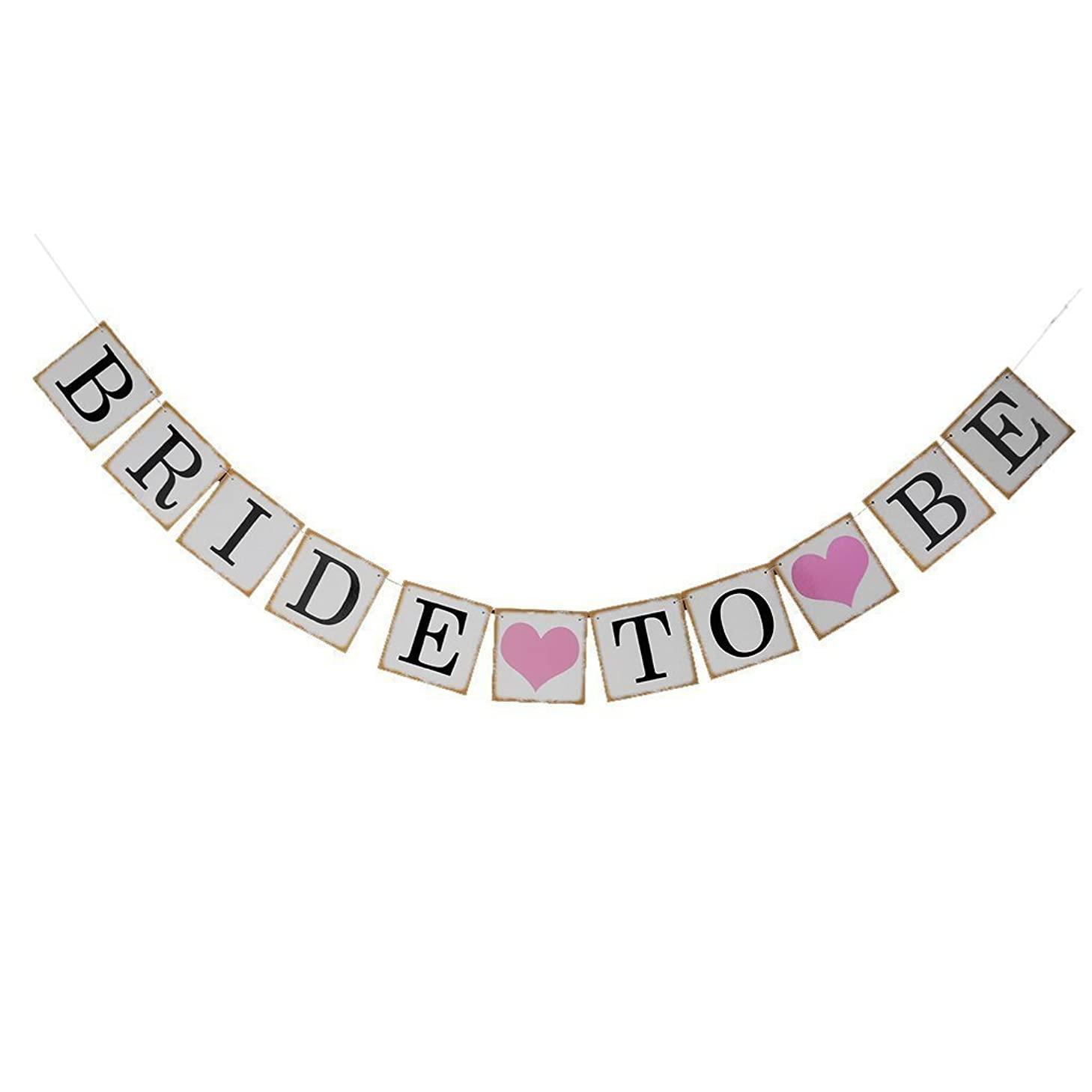 Moonee Bride to Be Wedding Banner with Rose Glitter Heart - Bride Garland Wedding Sign Photo Prop Wedding Party Decoration