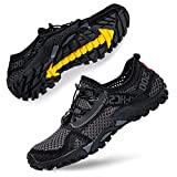 Man Woman Water Shoes Beach Swim Aqua Shoes for Surf Yoga Beach Boating Sailing Kayaking Travel Grey Black