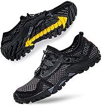 Women's Water Shoes Lightweight Men Water Sneakers for Water Sport Hiking Beach Swim River Tubing Surf Grey Black