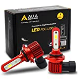 Alla Lighting 5200lm AL-R HB4 9006 LED White Fog Lights Bulbs Xtreme Super Bright 12V 6000K Xenon 9006 LED Light Bulb Upgrade Halogen for Cars, Trucks