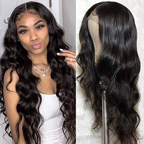 Body Wave Lace Front Wigs Human Hair 8a 4x4 Lace Front Wigs Body Wave Pre Plucked Natural Hairline 130% Density Human Hair Wigs for Women (18inch,4x4 body wave wig Natural Color)