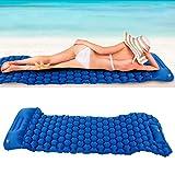 Snufeve6 Colchoneta para Dormir, colchón Inflable de tamaño pequeño, Playa, Senderismo para Tiendas de campaña y hamacas Camping al Aire Libre Turismo(28 * 12 * 12cm-Sapphire)