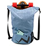 Eggboards Skateboard Bag Waterproof Backpack - Large Bags With Backpacks Straps. Ideal For Adults, Kids, Girls, Beach, Gym, Sports.