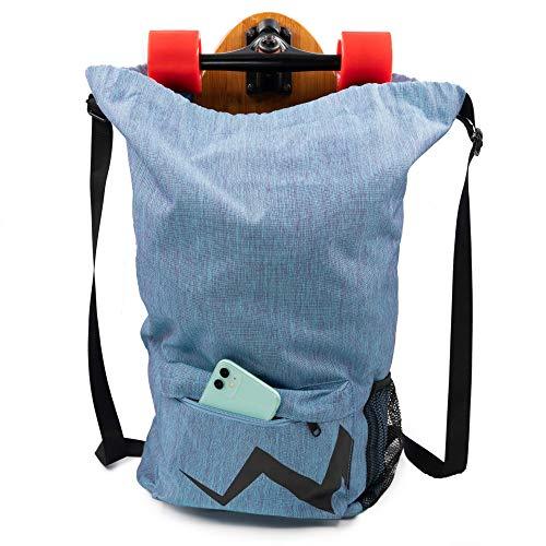 Eggboards Skateboard Backpack Laptop Bag - Waterproof Backpacks With Drawstring, Large Pocket And Adjustable Straps. Ideal For Adults, Kids, Girls