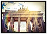Pixxprint Brandenburger Tor in Berlin Leinwandbild 100x70