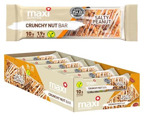 MaxiNutrition Crunchy Nut Bar Salty Peanut, 18 x 46g