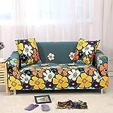WXQY Funda de sofá elástica de Esquina en Forma de L Funda de sofá Modular Sala de Estar Todo Incluido sofá a Prueba de Polvo Toalla Funda de sofá A7 3 plazas