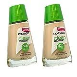Pack of 2 CoverGirl Clean Sensitive Liquid Foundation, Buff Beige 525