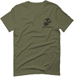 Front Back Black Seal United States USA American Marines Corps USMC for Men T Shirt