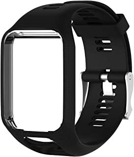 TUSITA Band for Tomtom Runner 2 3,Spark 3,Golfer 2,Adventurer - Silicone Strap Bracelet Wristband with Screen Protector - ...