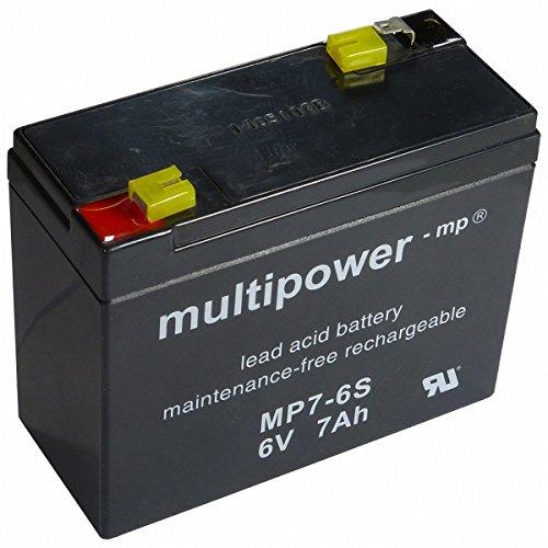 Multipower Bleiakku MP7-6 S (6V / 7 Ah), wartungsfrei