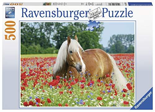 Ravensburger Puzzle 14831 - Pferd im Mohnfeld - 500 Teile
