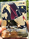 Carte Pokémon Française Dracaufeu V Shiny 79/73 Métal Gold Card Charizard v vmax GX Full Art Rainbow Rare à Collectionner