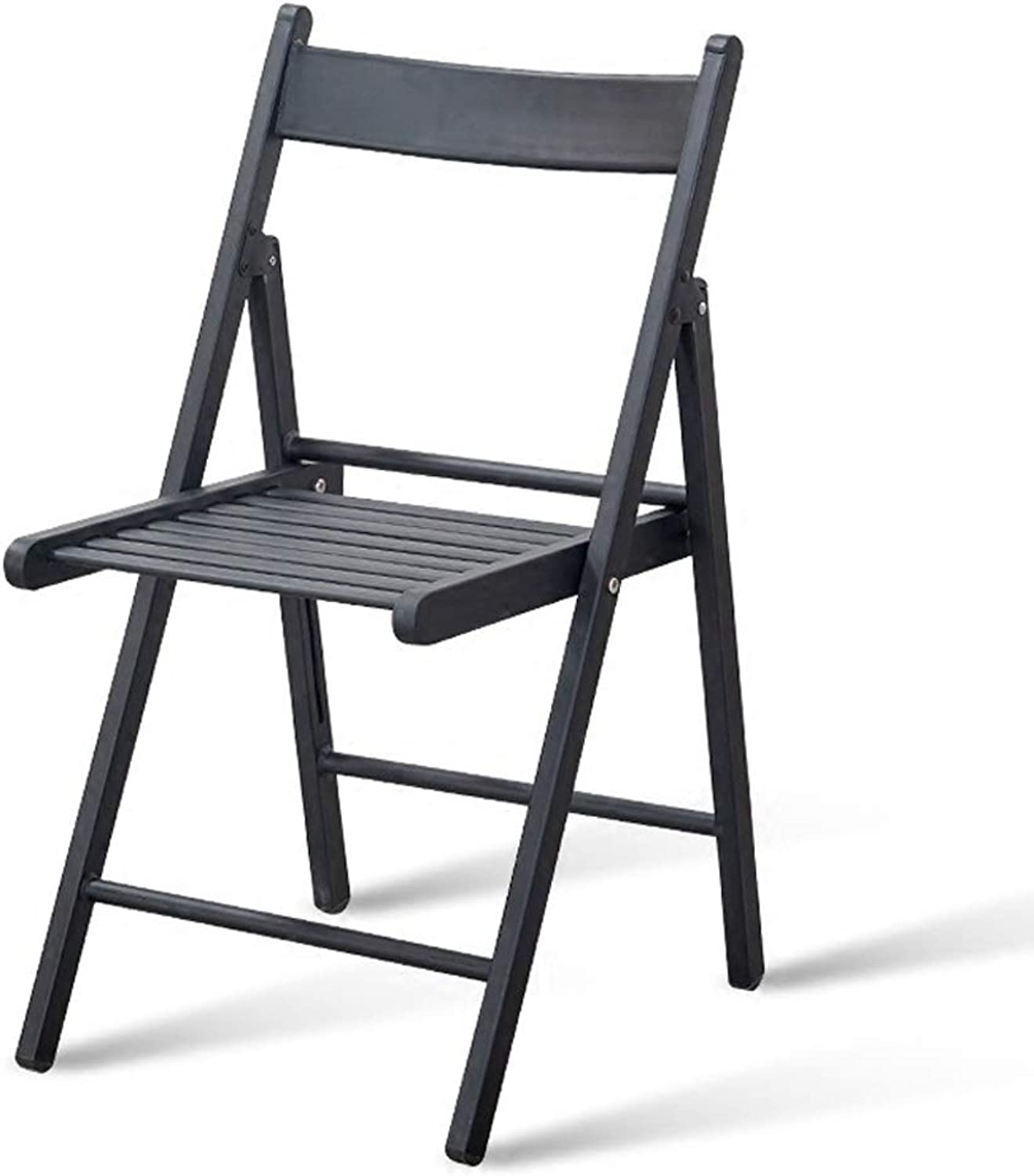 Folding Chair Wrought Iron Seat with Backrest Dining Chair Black Green Red Computer Chair Lounge Chair (color   Black)