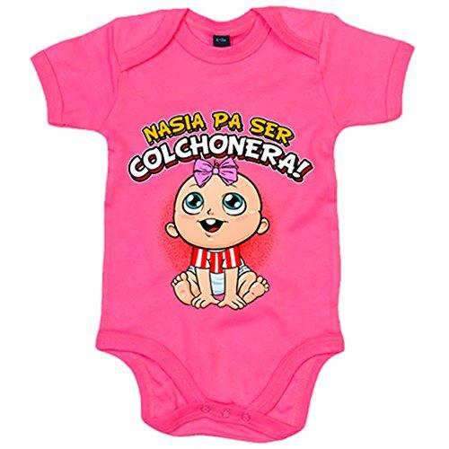 Body bebé nacida para ser Colchonera Atlético fútbol - Rosa, 6-12 meses