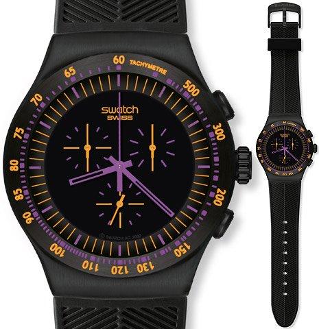 Muestra de color morado oscuro en el reloj de los hombres del cronógrafo YOB102 de la muñeca reloj de pulsera (reloj)