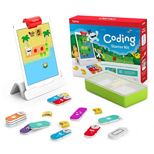Osmo - Coding Starter Kit for iPad - 3 Educational Learning Games - Ages 5-10+ - Learn to Code, Coding Basics & Coding Puzzles - STEM Toy (Osmo iPad Base Included)