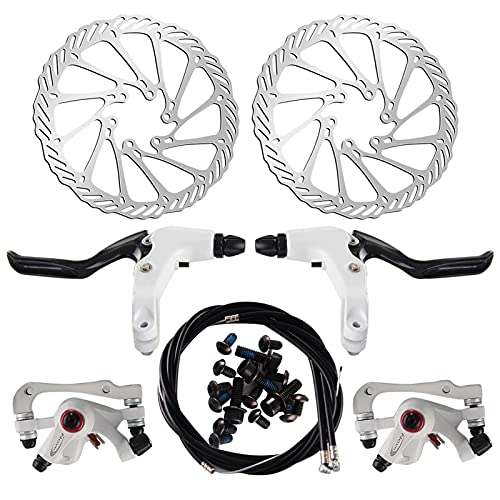 Trintion Fahrrad Scheibenbremse Bremsscheibe 160mm hinten Bremse mit BB5 Bremsbeläge und Kabel Schrauben für Rennrad, Mountainbike