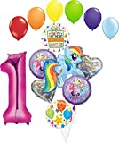 My Little Pony 1st Birthday Party Supplies Adventure and Friendship Forever Balloon Bouquet Decorations