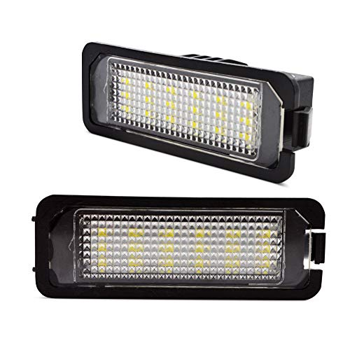 LncBoc LED Luci targa per auto Lampada targa 5W 12V 18SMD con CanBus nessun errore 6000K Xeno Bianco freddo per GOLF 5/6/7, 2 Pezzi