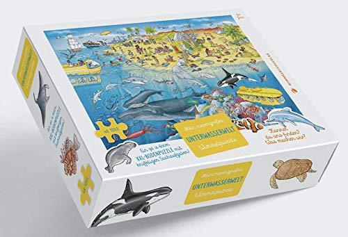 Unterwasserwelt Puzzle: XXL - Bodenpuzzle mit 48 großen Teilen ab 3 Jahren - Mein riesengroßes Unterwasser Wimmelpuzzle