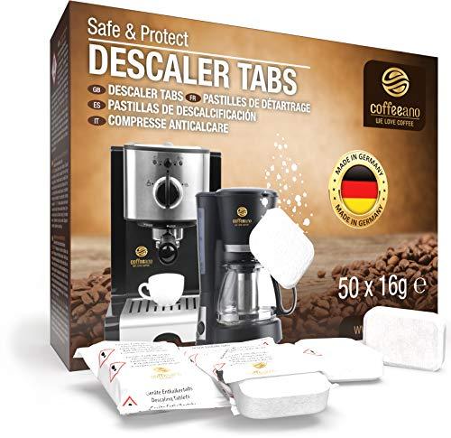 Coffeeano Tabletki do odkamieniania XL do w pełni automatycznych ekspresów do kawy i ekspresów do kawy. Tabletki do odkamieniania kompatybilne z Jura, Siemens, Krups, Bosch, Miele, Melitta, WMF i wiele innych.