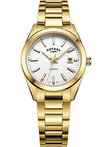Rotary Damen Havana Uhr aus Edelstahl Gold LB05081/02