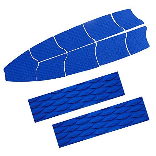 P Prettyia 9 Piezas Agarre de Plataforma de Tracción Completa de EVA con 2 Almohadillas de Cola, Accesorio de Tablas de Surf - Azul, Tal como se Describe