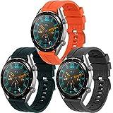 Th-some Correa para Huawei Watch GT 2/ Huawei Watch GT Fashion/Sport/Active/Elegant/Classic/Gear S3 Frontier/Galaxy Watch 46mm/S3 Classic, 22mm Pulsera de Repuesto de Silicona Banda