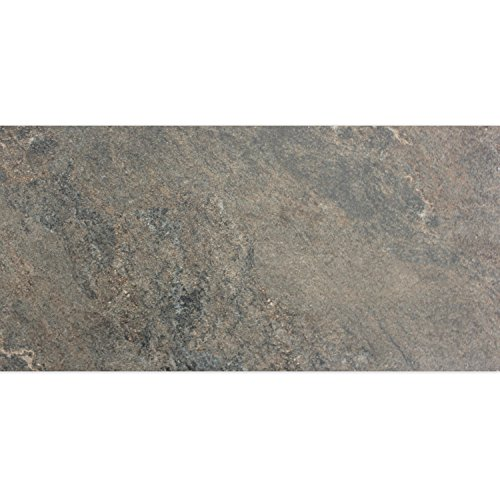 Bodenfliese Moorland Braun 30x60cm   Glasiert   Rutschfest   Fußbodenheizung geeignet   Kalibriert   Ideal für den Wohnbereich und fürs Badezimmer