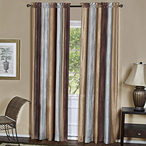 "Achim Home Furnishings OMPN84CH06 Ombre Window Curtain Panel, 50"" x 84"", Chocolate"