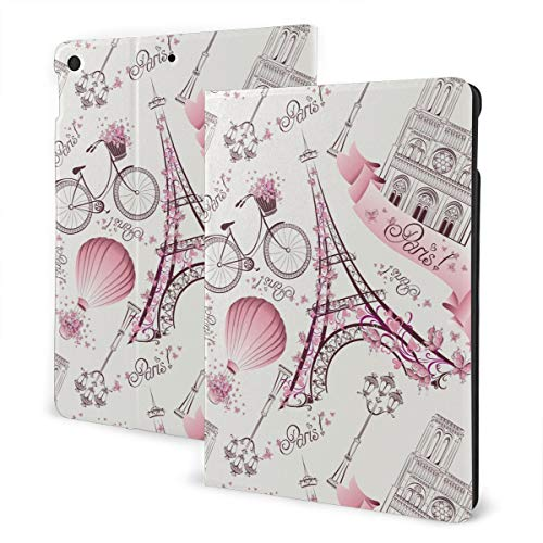 Romantic Paris Case for Ipad Beautiful Watercolor Pattern Lightweight Slim Shell Standing Cover with Auto Wake/Sleep Feature for Ipad 7th Generation 10.2 Inch Tablet