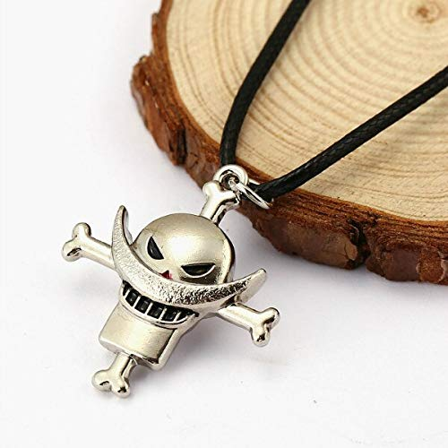 Luffy Zoro Whitebeard Pirate Skull Pendant Necklace For One Piece Fan Rope Chain Choker Jewelry Gift