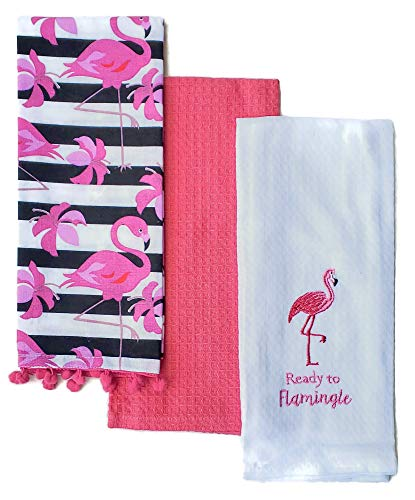 6. Flamingo Kitchen Towel