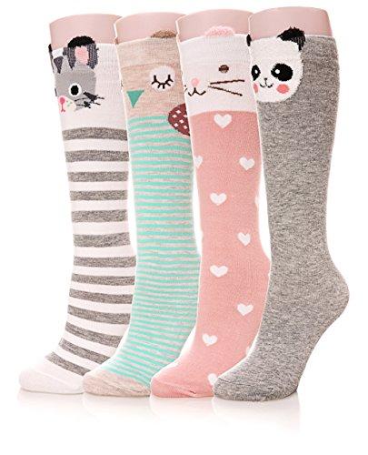 Color City Girls Socks Knee High St…