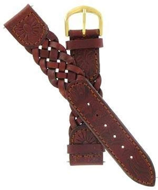 Timex 18mm Braided Letaher Watchband
