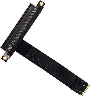 HLT M.2 NGFF NVMe Key M to PCIe 3.0 X16 Extension Cable(180° PCI-E Slot)