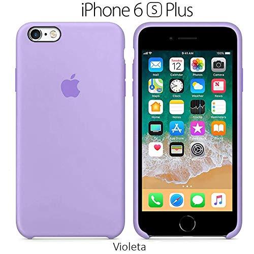 Funda Silicona para iPhone 6 Plus y 6s Plus Silicone Case, Calidad, Textura Suave, Forro Interno Microfibra (Violeta)