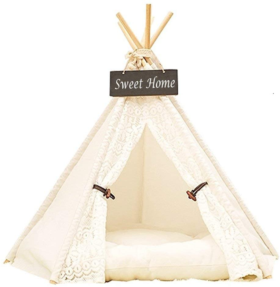 DEWEL Dog Tent Courier shipping free Pet Teepee House Washable Cat Play Spasm price Portable