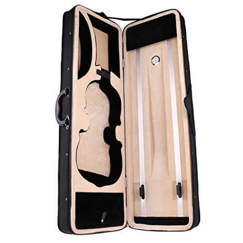 Almencla Schultertasche Für 4/4 Geigenkoffer Mit Hygrometer 77 X 25 X 13 Cm, Schwarz