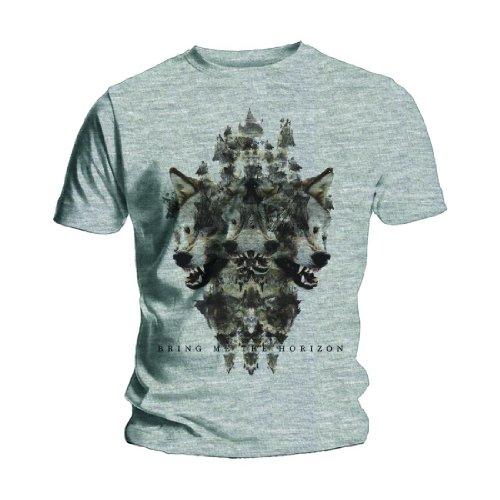 Bring Me The Horizon Herren Wolven T-Shirt, grau, S