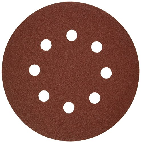 Bosch SR5R120 5-Piece 120 Grit 5 In. 8 Hole Hook-And-Loop Sanding Discs