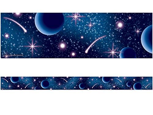Teacher Created Resources Blue Stellar Space Straight Border Trim (5852)