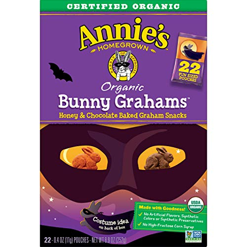 Annie's Organic Halloween Bunny Grahams, 22 Count