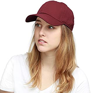 The Hat Depot Unisex Blank Washed Low Profile Organic...