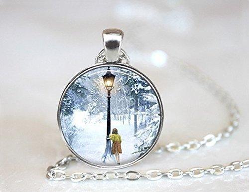 Collar de Narnia, El León La Bruja y el Armario Collar,Collares redondos de cristal de cúpula,Joyería colgante,Joyería de la película