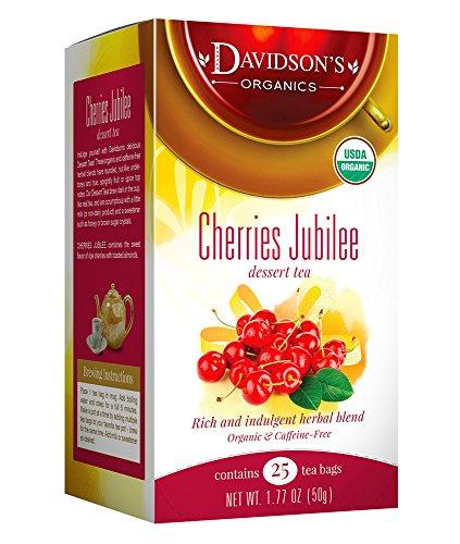 Davidsons Tea Dessert Tea/Cherries Jubilee, 25 Count Tea Bags
