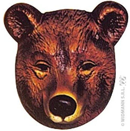Mondial-fete - 4 masques ours enfant PVC 3D - 19 x 16 cm