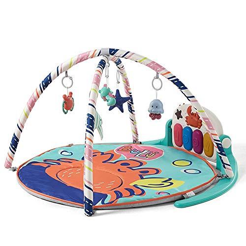 Juego del bebé Mat Bebé Música Ejercicios rack 0-3 Años de Edad Temprana Los niños Manta Juego Educación con el PP Material del bebé estera del juego para chicos ( Color : Crab , Size : 75x55x44cm )